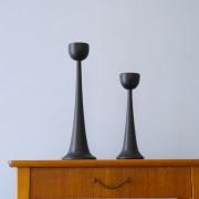 Bougeoirs design en bois 1960