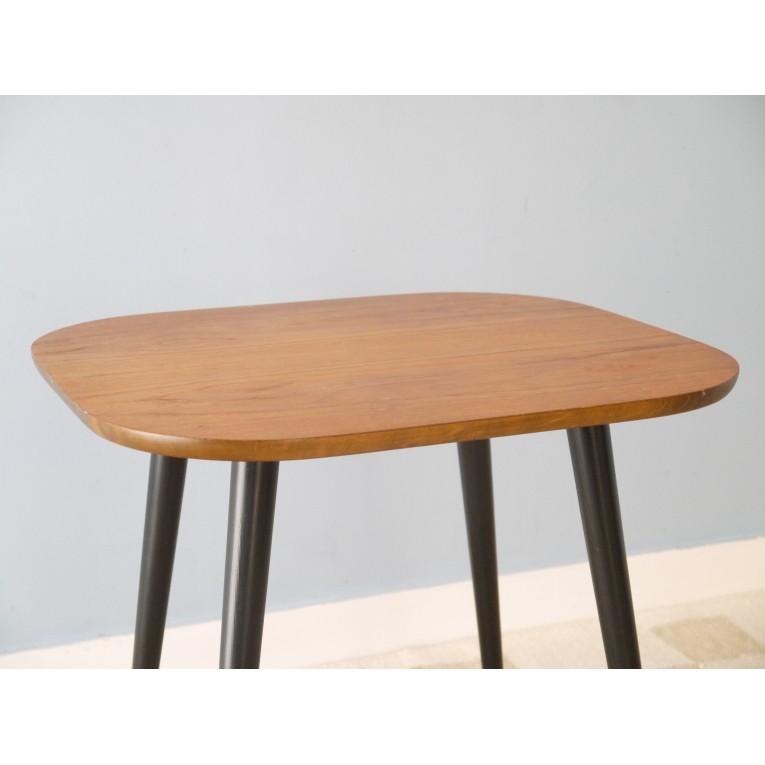 Table basse vintage scandinave ann e 50 la maison retro - Table basse pieds compas ...