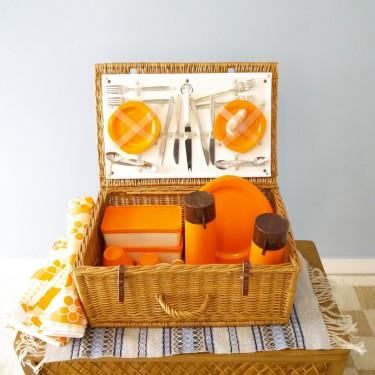 Valise set de picnic vintage