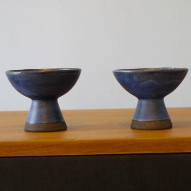 Paire de bougeoirs scandinave en ceramique
