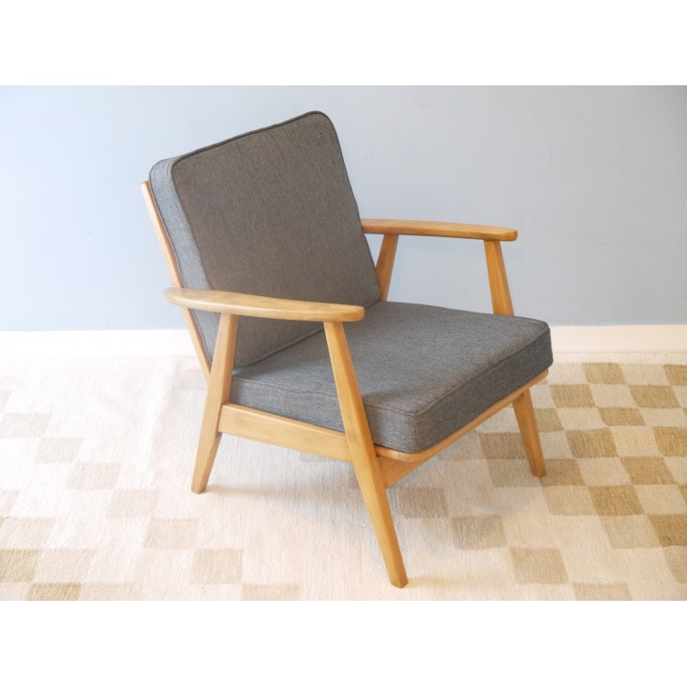 Pin fauteuil design scandinave 60 s bleu on pinterest - Fauteuil vintage scandinave ...