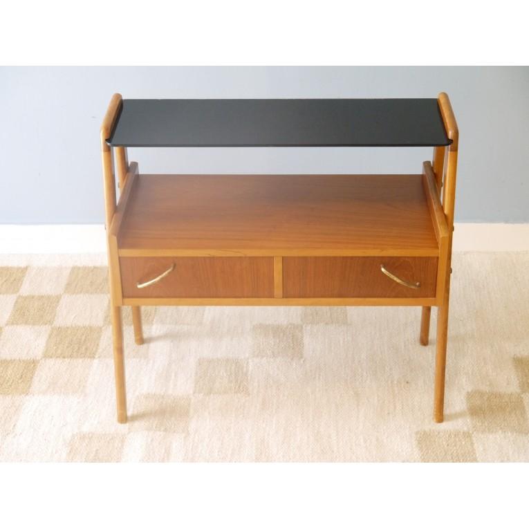 Petit meuble vintage rangement teck la maison retro - Petit meuble teck ...