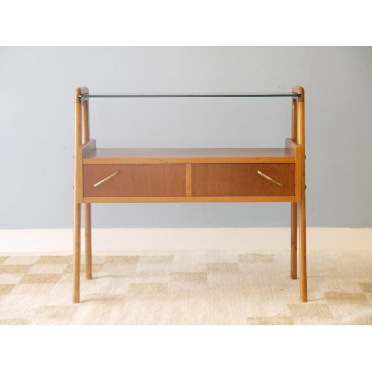 petit meuble vintage rangement teck la maison retro. Black Bedroom Furniture Sets. Home Design Ideas
