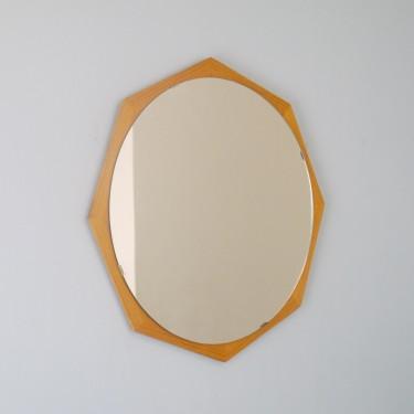 Miroir scandinave en teck 1960