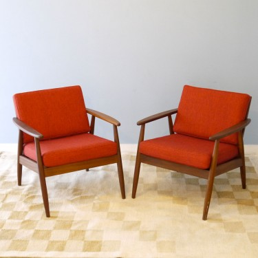 Fauteuils design scandinave 1960