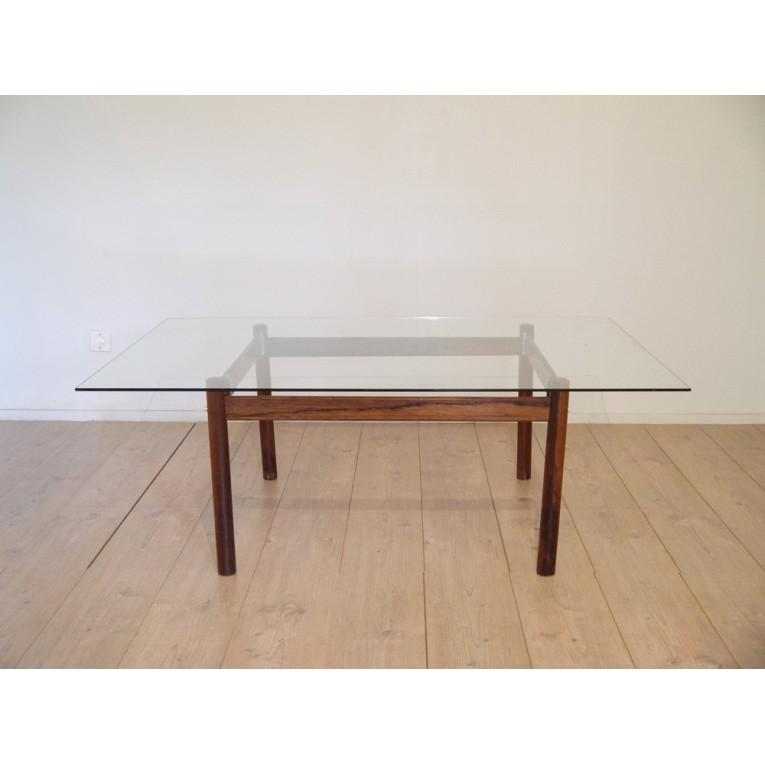 table basse palissandre scandinave la maison retro. Black Bedroom Furniture Sets. Home Design Ideas