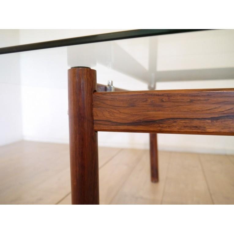 Table basse palissandre scandinave la maison retro for Table basse scandinave rectangulaire