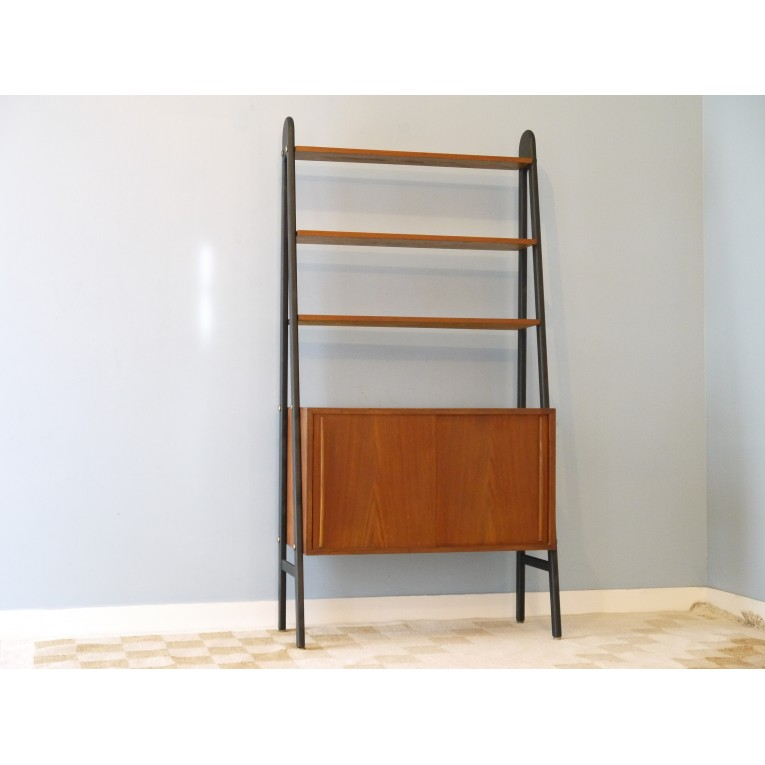 bibliotheque vintage scandinave la maison retro. Black Bedroom Furniture Sets. Home Design Ideas