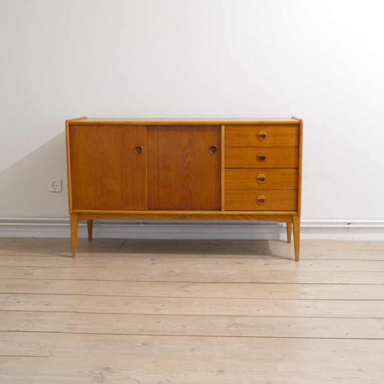 Enfilade scandinave teck 1960 la maison retro for Meuble enfilade scandinave