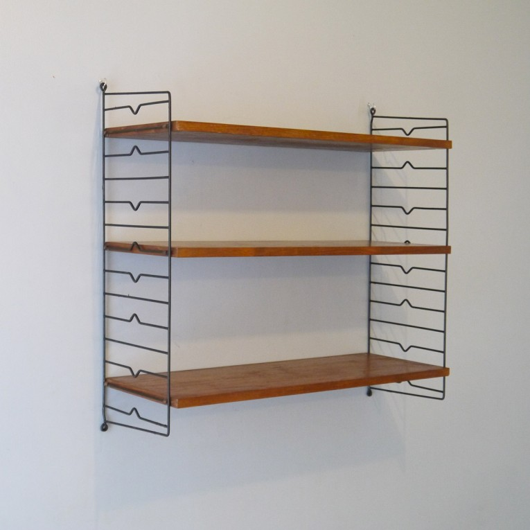 Etagere murale vintage scandinave string la maison retro for Etageres murales arrondies