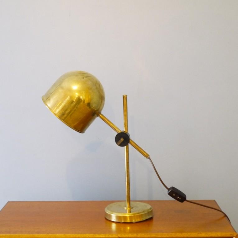 lampe bureau scandinave laiton - la maison retro