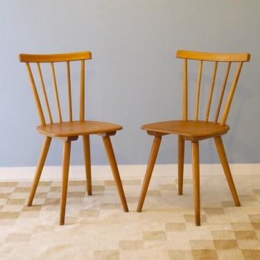 Paire de chaises vintage scandinave 1960