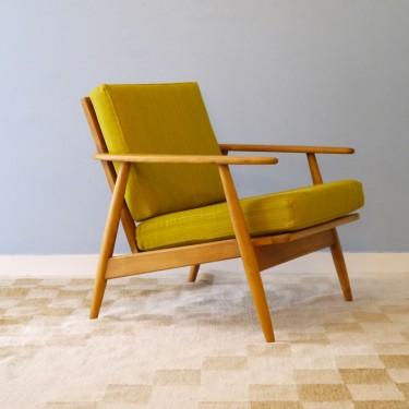 Fauteuil Scandinave Vintage Jaune
