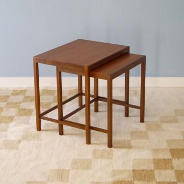 tables gigognes en teck 1960 - Table Gigogne Vintage
