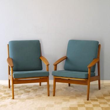 Fauteuils design scandinave vintage Poul Volther