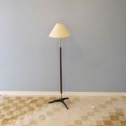 Lampadaire vintage tripode en bois