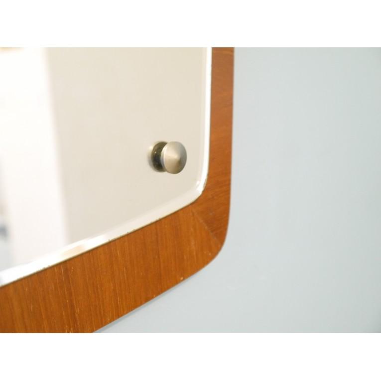 Miroir scandinave vintage asymetrique teck la maison retro for Miroir scandinave