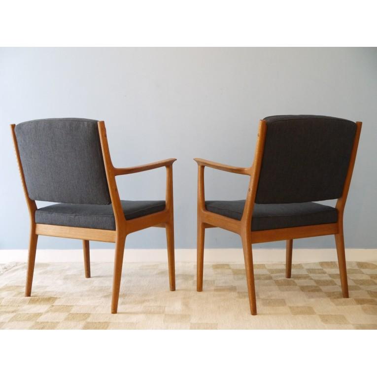 Fauteuils paire design scandinave vintage gris la maison retro - Fauteuil design suedois ...