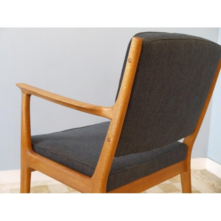 fauteuils paire design scandinave vintage gris la maison retro. Black Bedroom Furniture Sets. Home Design Ideas