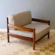 Fauteuil design vintage scandinave en palissandre