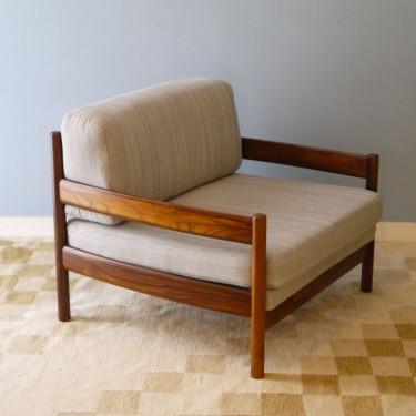 Fauteuil design vintage scandinave en pallissandre