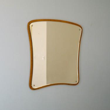 Miroir vintage asymetrique en teck