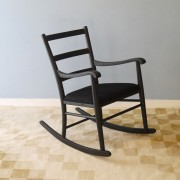 Rocking chair design scandinave vintage