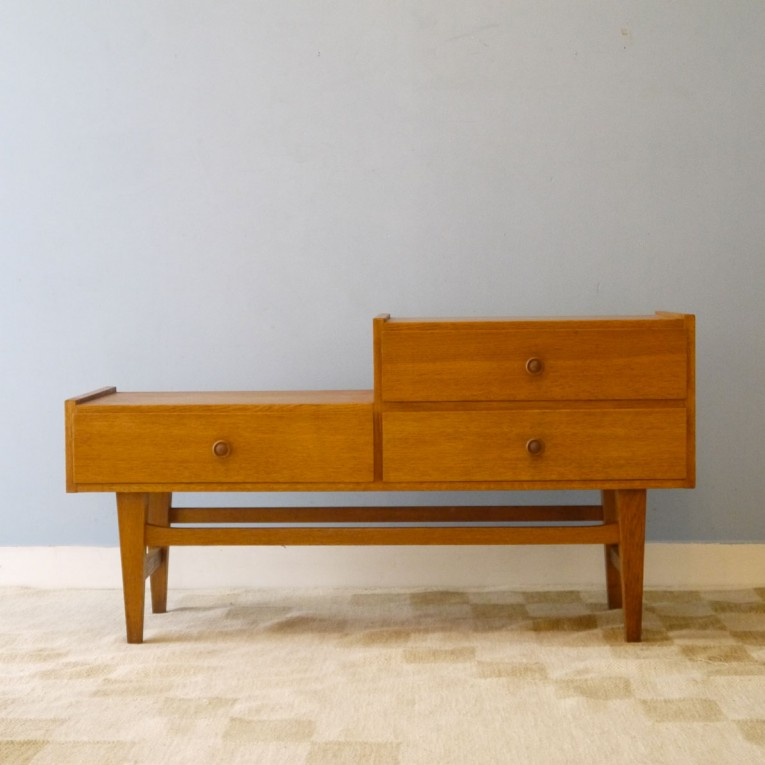 Meuble appoint vintage scandinave entree annee 60 la for Petit meuble
