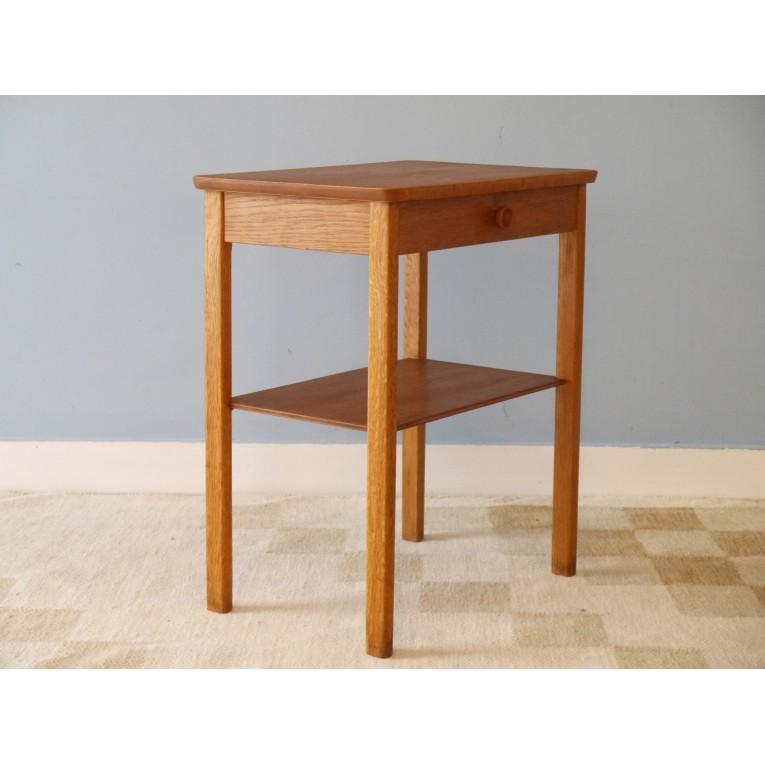 chevet table appoint vintage scandinave bois la maison retro. Black Bedroom Furniture Sets. Home Design Ideas