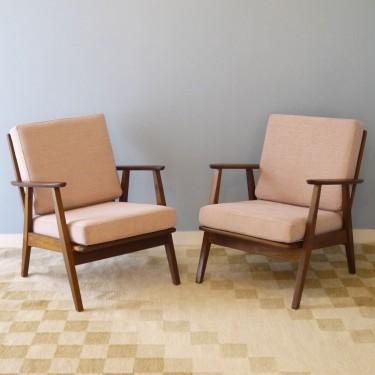Paire de fauteuils design scandinave vintage