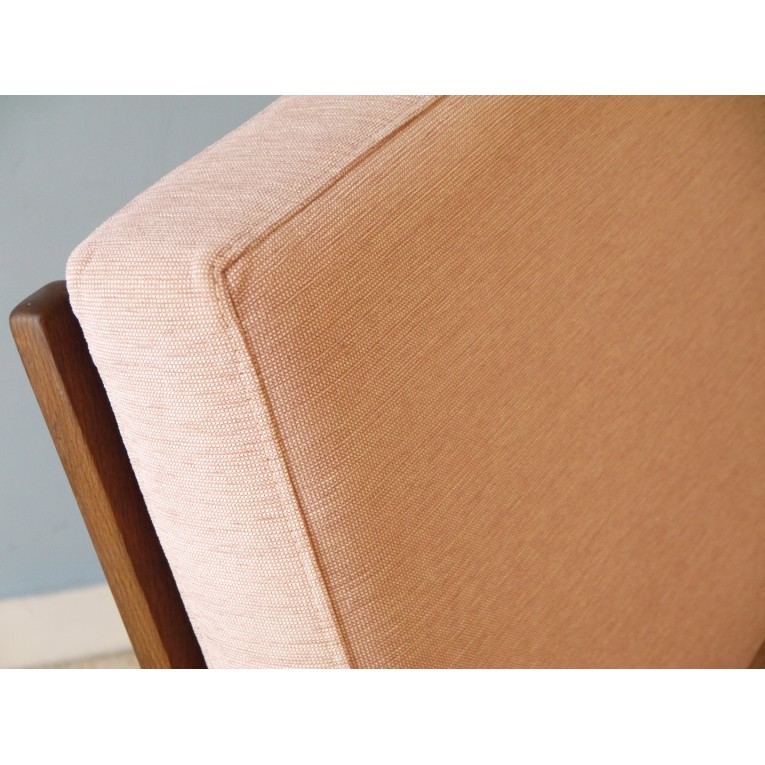 fauteuil orange années 60