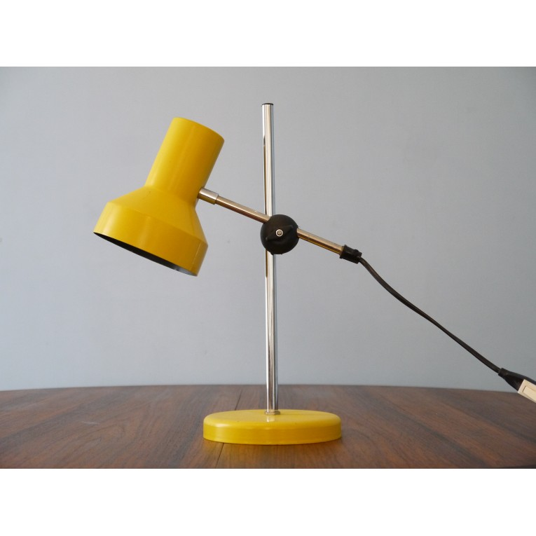 Lampe bureau table vintage balancier la maison retro for Lampe de bureau jaune