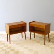 Paire de tables de chevet vintage scandinave