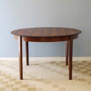 Table de repas ronde extensible design scandinave