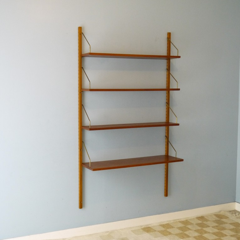 etagere bibliotheque murale vintage scandinave la maison. Black Bedroom Furniture Sets. Home Design Ideas