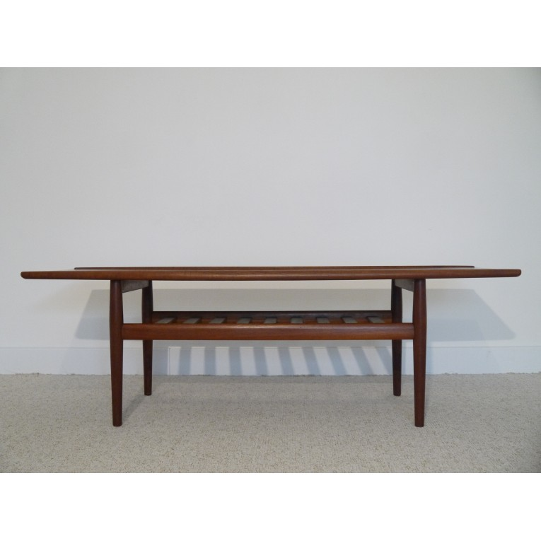 Grande table basse vintage scandinave la maison retro for Table basse scandinave design