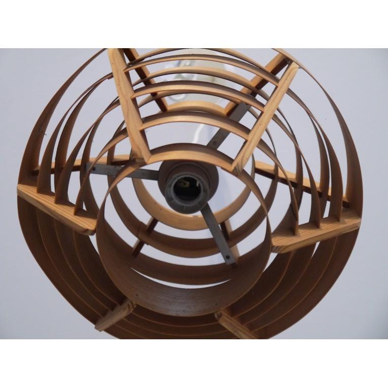 Suspension scandinave vintage en bois design la maison retro - Suspension scandinave bois ...
