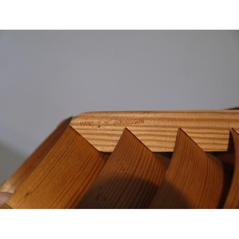 Suspension scandinave vintage en bois design la maison retro for Suspension en bois design