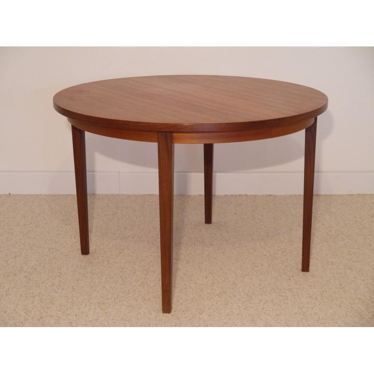 table repas ronde extensible vintage scandinave la maison retro. Black Bedroom Furniture Sets. Home Design Ideas