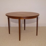 table de repas ronde vintage scandinave