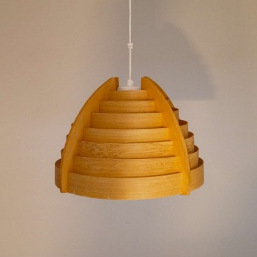 Suspension design scandinave en bois 1960