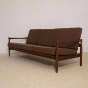 Canapé vintage design scandinave en teck