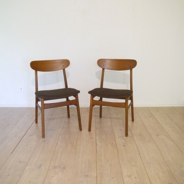 chaises teck danoise - Meuble Danois