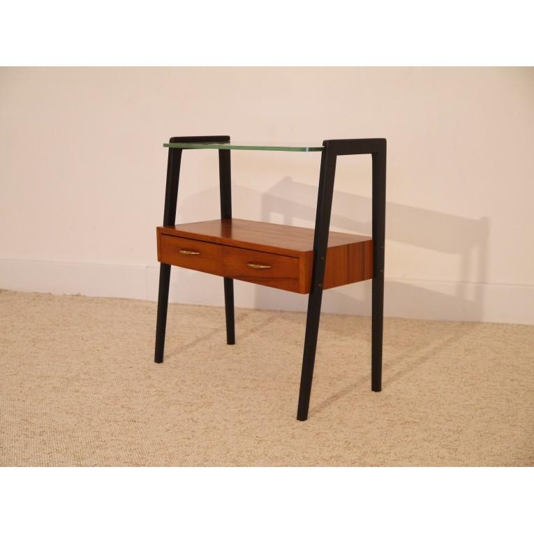 petit meuble vintage scandianve teck compas la maison retro. Black Bedroom Furniture Sets. Home Design Ideas