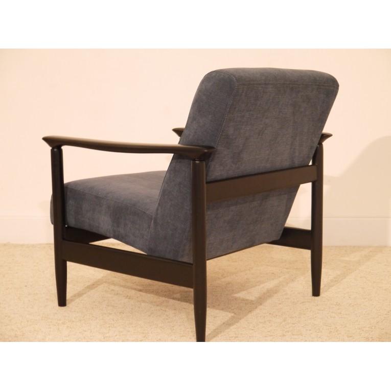 fauteuil design vintage scandinave bois gris la maison retro. Black Bedroom Furniture Sets. Home Design Ideas
