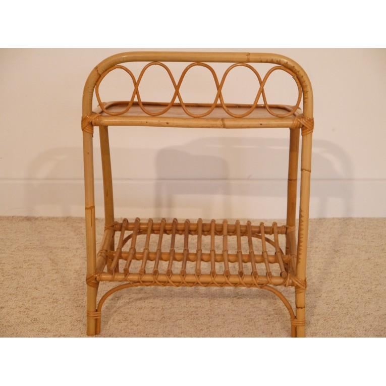 Petit meuble vintage appoint chevet rotin la maison retro for Petit meuble d appoint