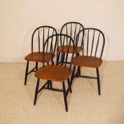 """Serie de 4 chaises vintage scandinave """"Nesto"""""""