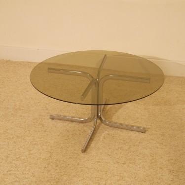 table basse ronde vintage annee 70 la maison retro. Black Bedroom Furniture Sets. Home Design Ideas