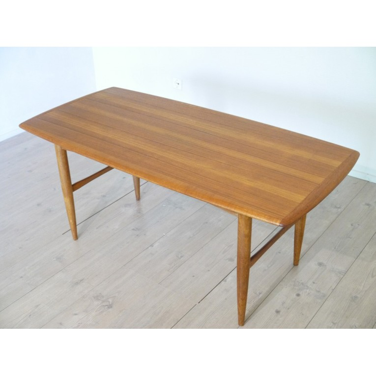 Table basse meuble vintage la maison retro for Table rectangulaire scandinave