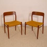 Chaises vintage danoise Niels O Moller